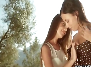 Outdoor Lesbians Love Tasting Pussy