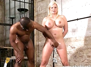 Melanie Moons busty bdsm and german slave girl in interracial domination by crue