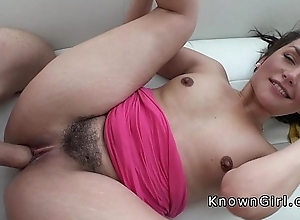 Hairy love tunnel girlfriend unfathomable cavity throats big cock
