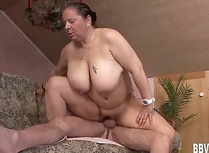 Big-busted german milf gets fucked