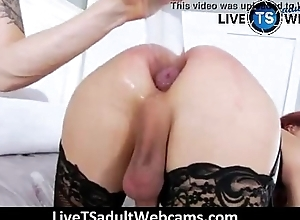 Double anal with Kendra Sinclaire LiveTSadultWebcams.com
