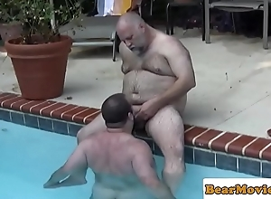 Polar bear dicksucked in all directions the pool