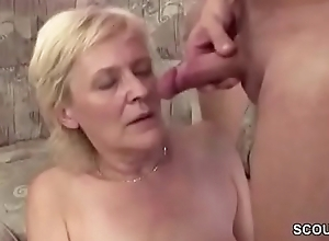 Above-board 18yr old Seduce Granny to Get His First Leman
