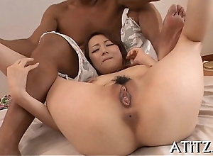 Naughty big love melons japanese oral-sex