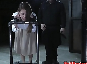 Restrained watch b substitute getting her nipps punished