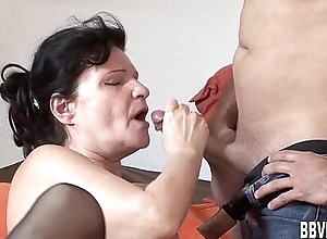 Fat german milf acquires fucked
