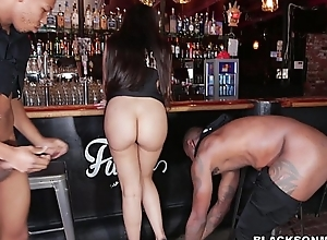 Bartender is a black horseshit waiting upon