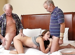 Juvenile Girl double teamed by Old Dicks