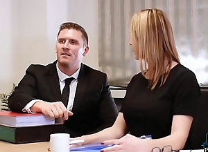 Divorce negotiations dissemble into sexy sex in the office