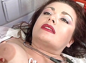 Sexy nurse Jessica Rizzo fucked there an ambulance by a colleague