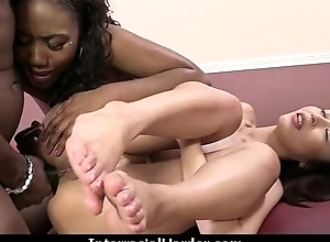 Ungentlemanly gets punished by a pretentiously black cock 5