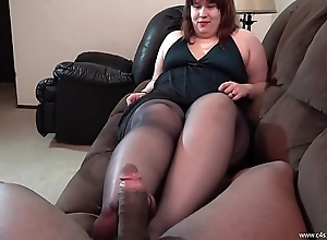 Jennifer Tease and Disaffirmation Pantyhose Footjob