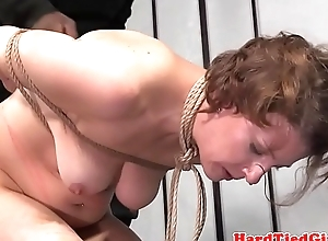 Teat clamped sub old bag flogged until past due