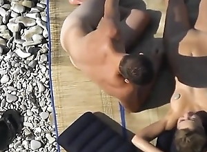 hot alms-man with whacking big cock readily obtainable nude beach