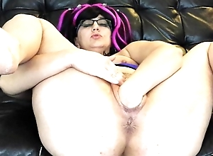 Vanessa Cox Fisting vibrator fuck strong pussy loose old bag